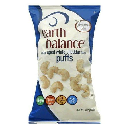 Earth Balance Aged White Cheddar Flavor Vegan Puffs, 4 Oz (Pack of -