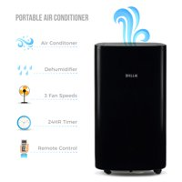 Della 14000 BTU 4-in1 Portable Air Conditioner Fan Cooling Dehumidifier Cool LED with Remote for Rooms Up To 450 Sq. Ft.