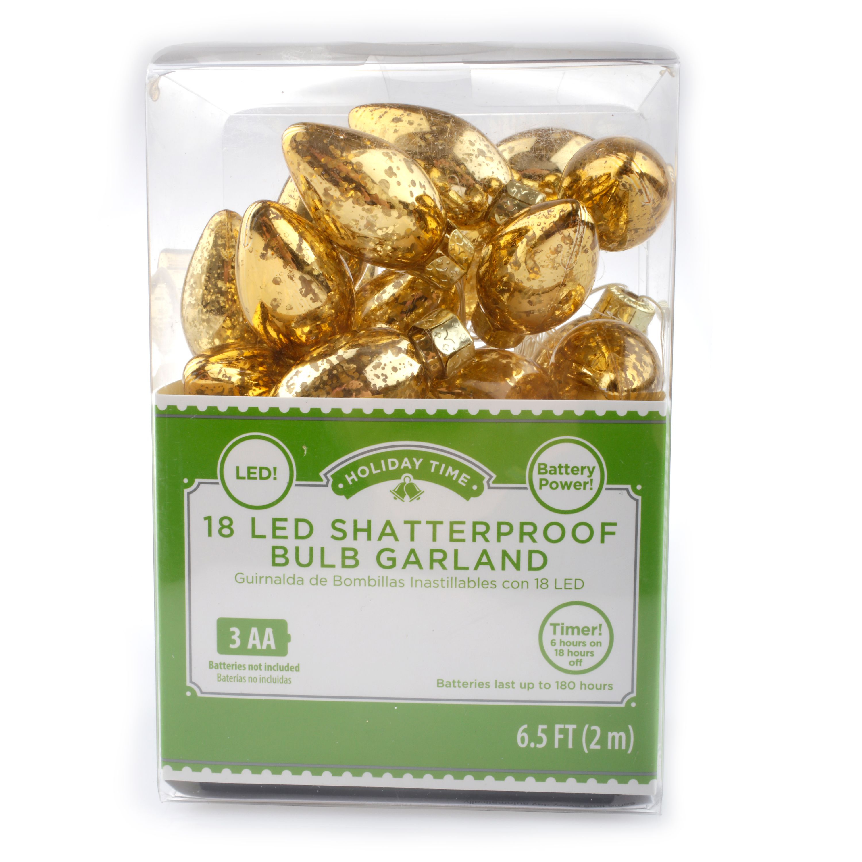 18 Ct Gold LED Shatterproof Bulb