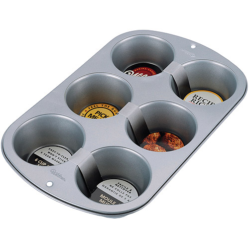Wilton Recipe Right 6-Cavity Jumbo Muffin Pan 2105-955