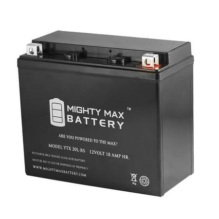 YTX20L-BS Battery for Yamaha 1300 XVS13AY V Star 1300, Stryker