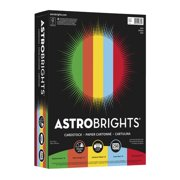 Neenah Paper 1495114 Astrobrights Acid-Free Color Cardstock - 8.5 x 11 in., 65 lbs - Eco Assortment, Pack of 250