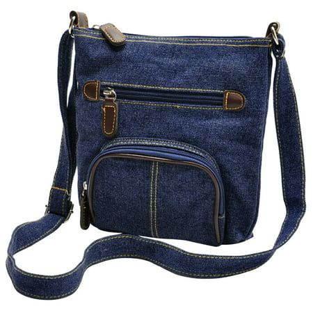 Denim  Crossbody Bag,  Coofit Casual Mini Shoulder Bag Messenger Bag Purse for School Kids Teen Men Women Dark Blue