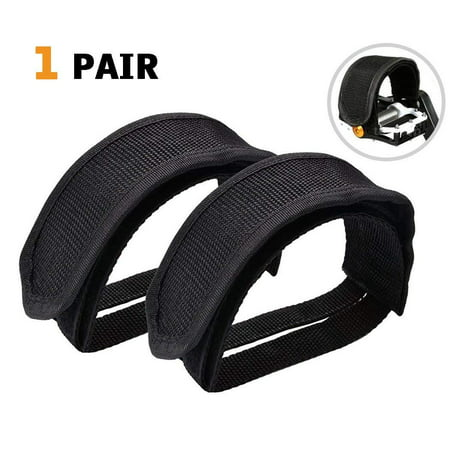 Bike Pedal Clips >> Coolmade 1 Pair Bike Pedal Straps Pedal Toe Clips Straps Tape For Fixed Gear Bike Black