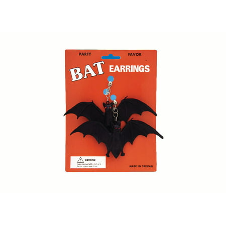 Packs Tavern Halloween (Loftus Halloween Rubber Bat Clip On Earrings, Black, One Size, 2)