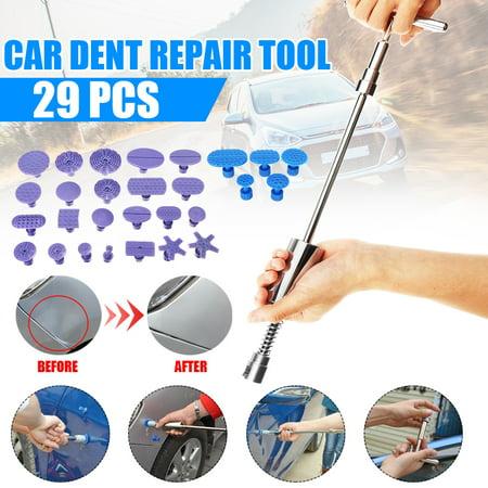 29pcs Car Body Dent Removal Pulling Tabs Paintless Repair Tools Glue Puller Tabs, Pulling Tool Bar, Dent Puller Tabs, PDR Puller Tabs