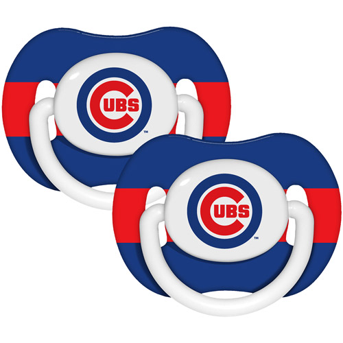 Baby Fanatic Mlb 2 - pack Baby Pacifiers, Chicago Cubs