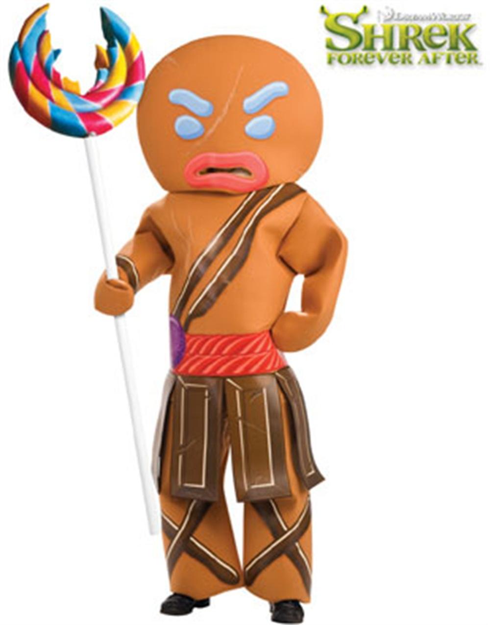 Shrek Gingerbread Warrior Man Adult Halloween Costume Walmart Com Walmart Com