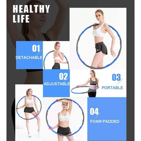 gohope fitness exercise weighted hula hoop lose weight