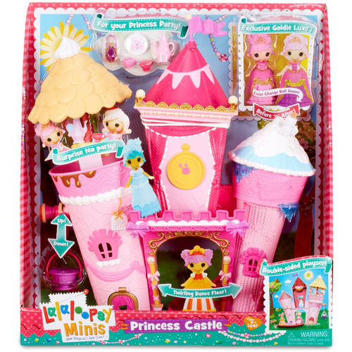 High Quality Lalaloopsy Minis Princess Castle Doll House 7 Pc Box