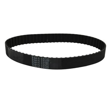 251L 67 Teeth Stepper Timing Belt Rubber Geared-Belt 638mm Girth 20mm Width - image 2 of 2