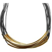 Tube Leather Necklace