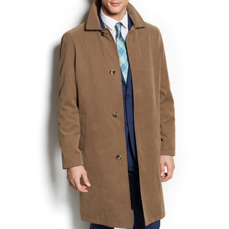 London Fog NEW Khaki Brown Mens Size 38R Button Down Durham Rain Coat