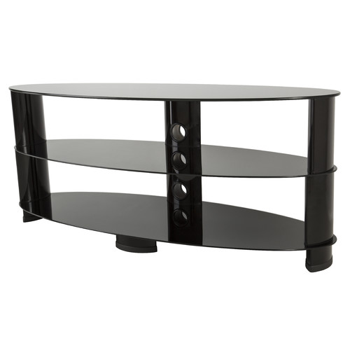 """AVF TV Stand with Glass Shelves for TVs up to 60"""", Black"""