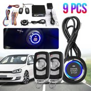 Best Remote Car Starters - 9Pcs Start Push Button Remote Starter Keyless Entry Review