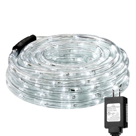 - Lighting EVER 33ft/10m LED Rope Light 120V Party Home Christmas Xmas Lighting 240 LEDs LED Rope Light Daylight