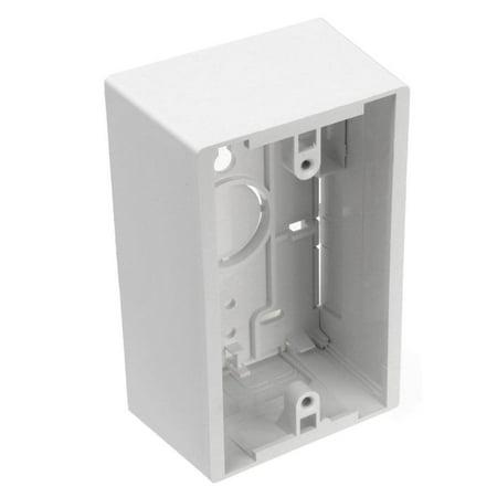 Leviton  132-42777-1WA White 1G Surface - 1g Outlet Box