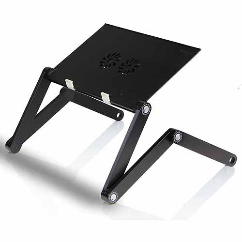 Furinno X7 Aluminum Adjustable/Portable Notebook Laptop Table With Cooler  Fans
