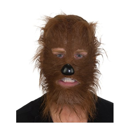 Adult's Furry Brown Werewolf Legendary Animal Mask Costume Accessory