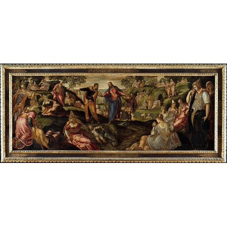 """The Miracle of the Loaves and Fishes Poster Print by Jacopo Tintoretto (Jacopo Robusti) (Italian Venice 1519  """"1594 Venice) (18 x 24)"""