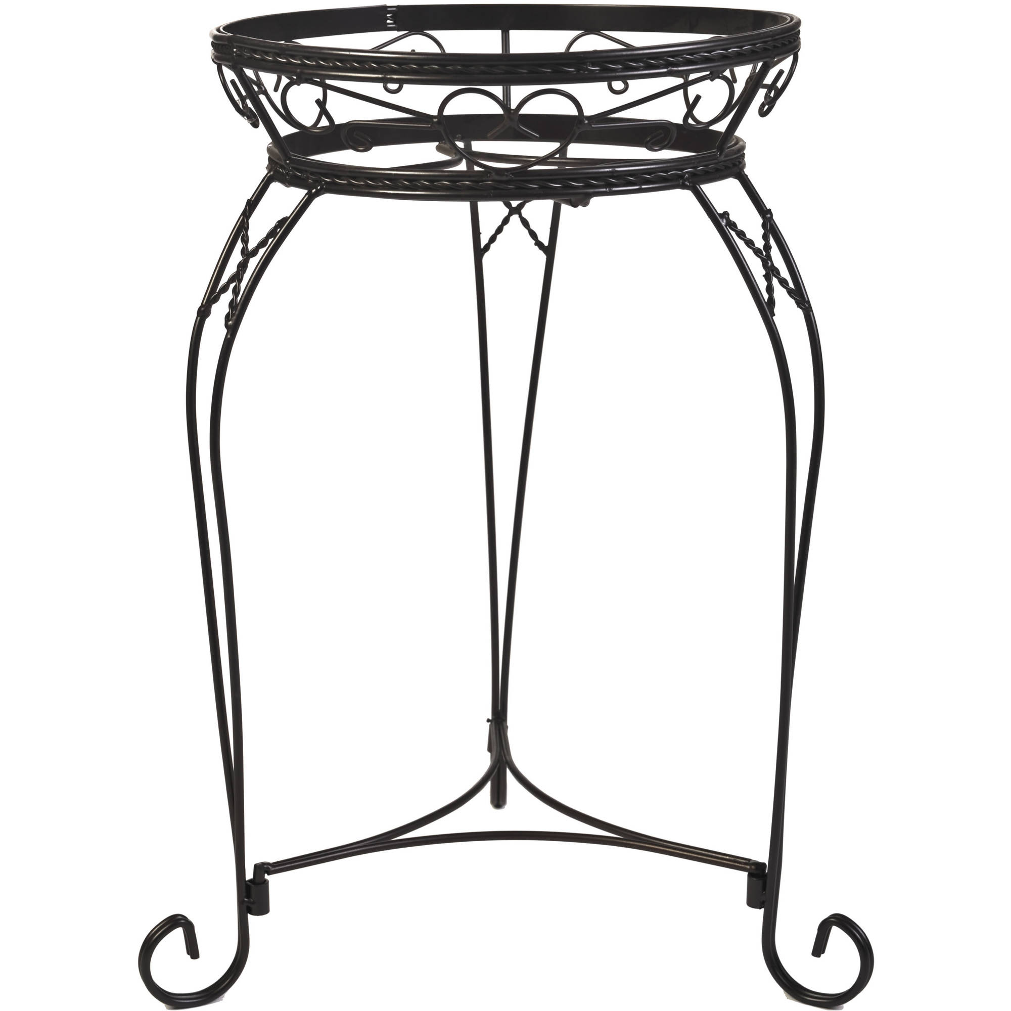 "CobraCo 21"" Scroll Braided Bronze Finish Plant Stand"