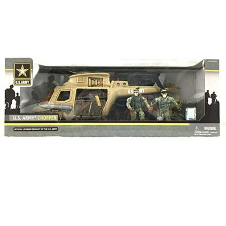 U.S. Army Chopper Playset w/ 2 Soldier - Toy Army Guns