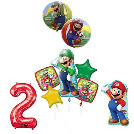 The ULTIMATE Super Mario Brothers and Luigi 2nd Birthday Party supplies - Mario Birthday Party