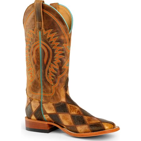 Horse Power Men's Patchwork Western Boot Square Toe - Hp1053