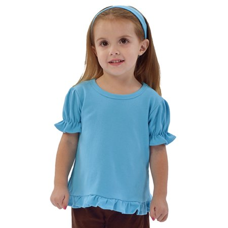 MONAG Infant Short Sleeve Ruffle Tee](Pink Childrens Clothing)