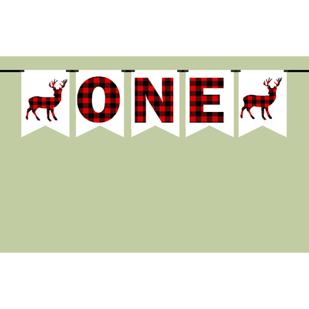 First Birthday Lumberjack Party Decoration Banner