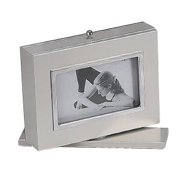 4 X 6 BRUSHED ALUMINUM SWIVEL ALBUM