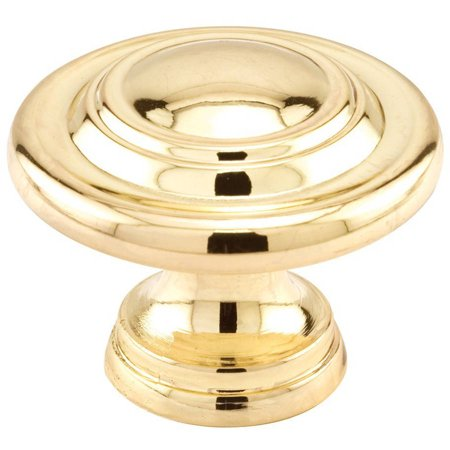 Prime-Line Products N 7369 1-3/4-Inch Bi-Fold Door Knob, Brass Plated