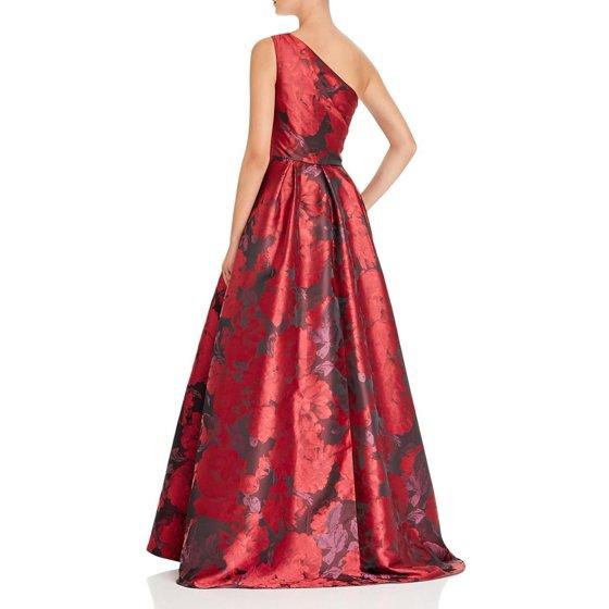 Carmen Marc Valvo Womens One Shoulder Floral Evening Dress - Walmart.com