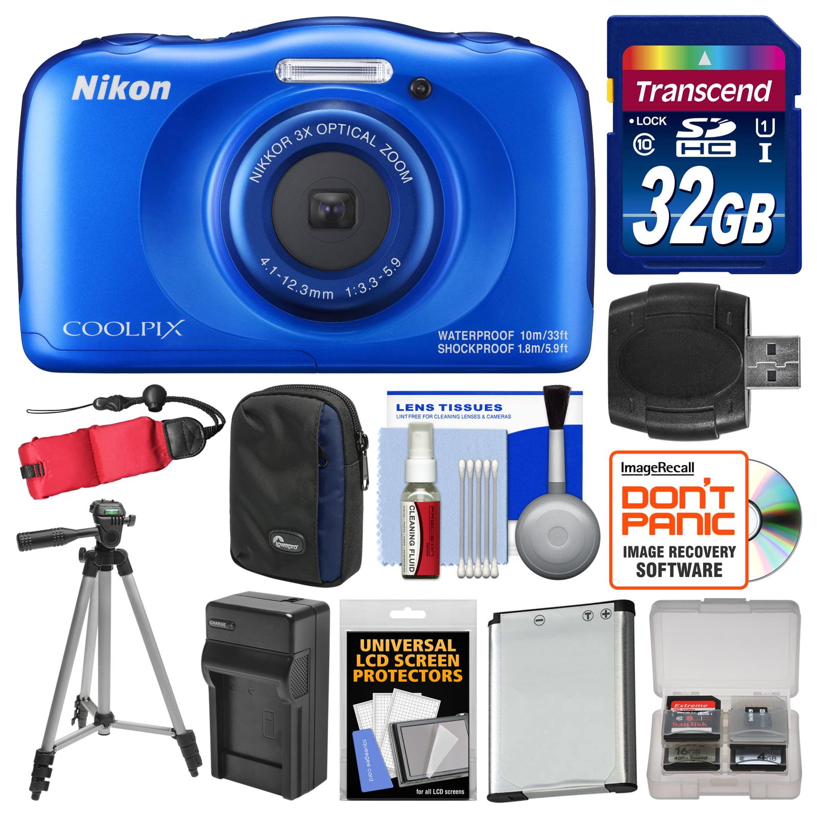 Nikon Coolpix W100 Wi-Fi Shock & Waterproof Digital Camer...