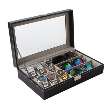 Single Layer 6 Grids Watches Storage Boxes And 3 Grids Glasses Organizers - image 8 of 12