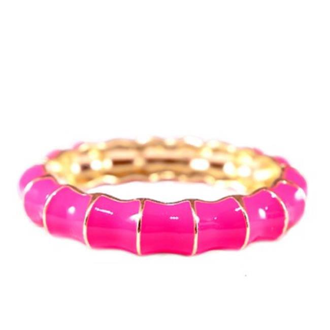 C Jewelry Gold-Fuchsia Tone Epoxy Bracelet