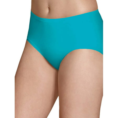 Fruit of the Loom Women's Breathable Micro-Mesh Low-Rise Brief Panties - 4 Pack