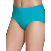 Fruit of the Loom Women's Breathable Micro-Mesh Low-Rise Brief Panties - 4 Pack