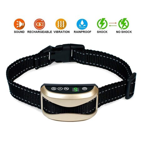 Anti Barking Collar No Bark Rainproof Humane Training for