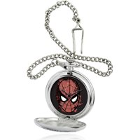 Marvel Men's Silver Pocket Watch, Silver Chain