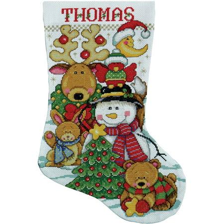 Making Christmas Stocking.Tobin Making New Friends Stocking Counted Cross Stitch Kit