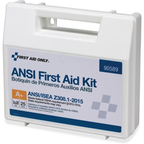 First Aid Only 141-piece ANSI First Aid Kit - 141 x Piece(s) For 25 x Individual(s) Height - 1 Each