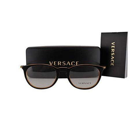 - Versace VE3227 Eyeglasses 51-20-140 Black Orange 138 VE 3227