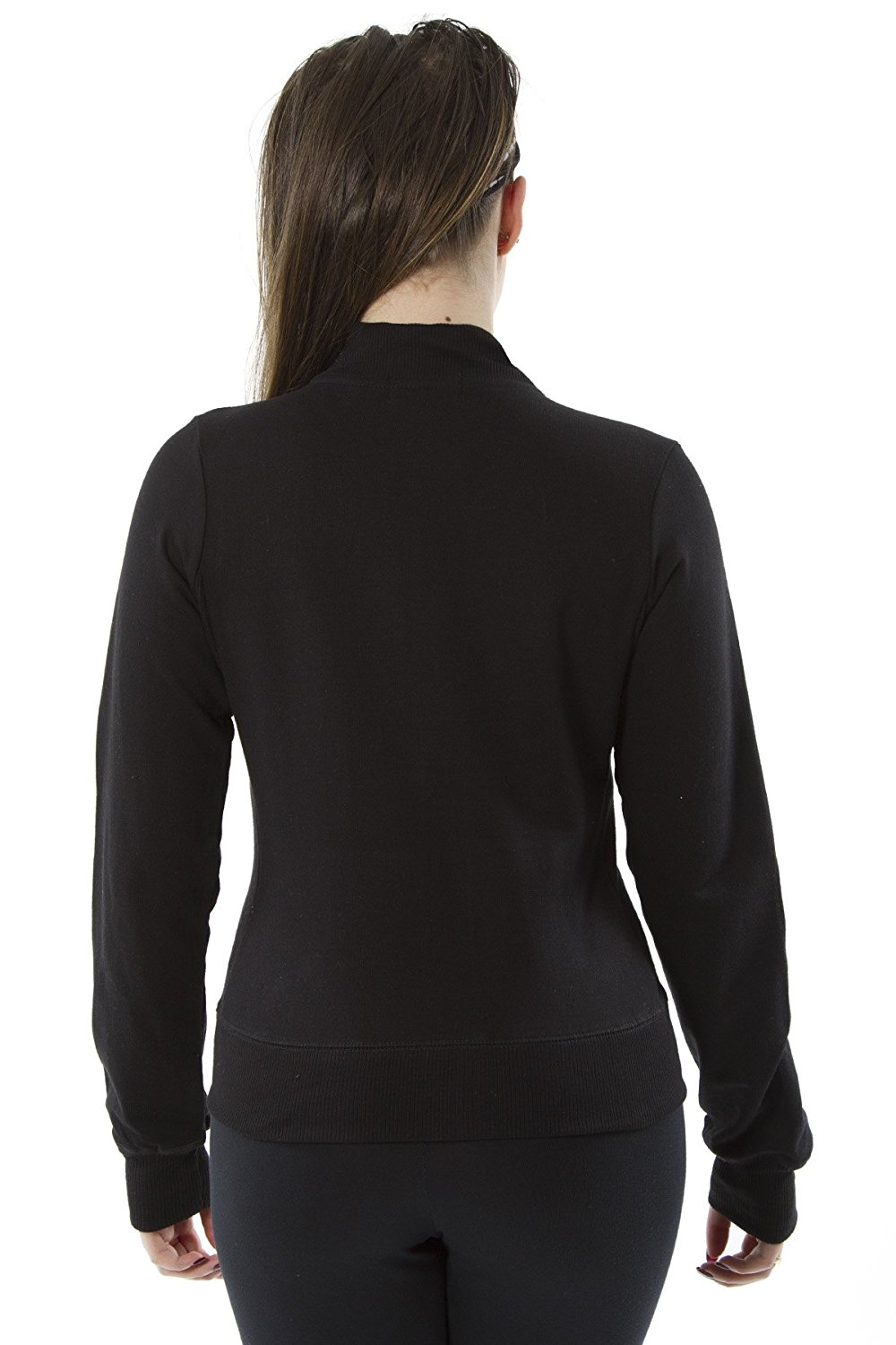 Rogue Zip-Up Track Style Jacket in Black a Long Sleeve Zipper Shirt for Women Small, Black