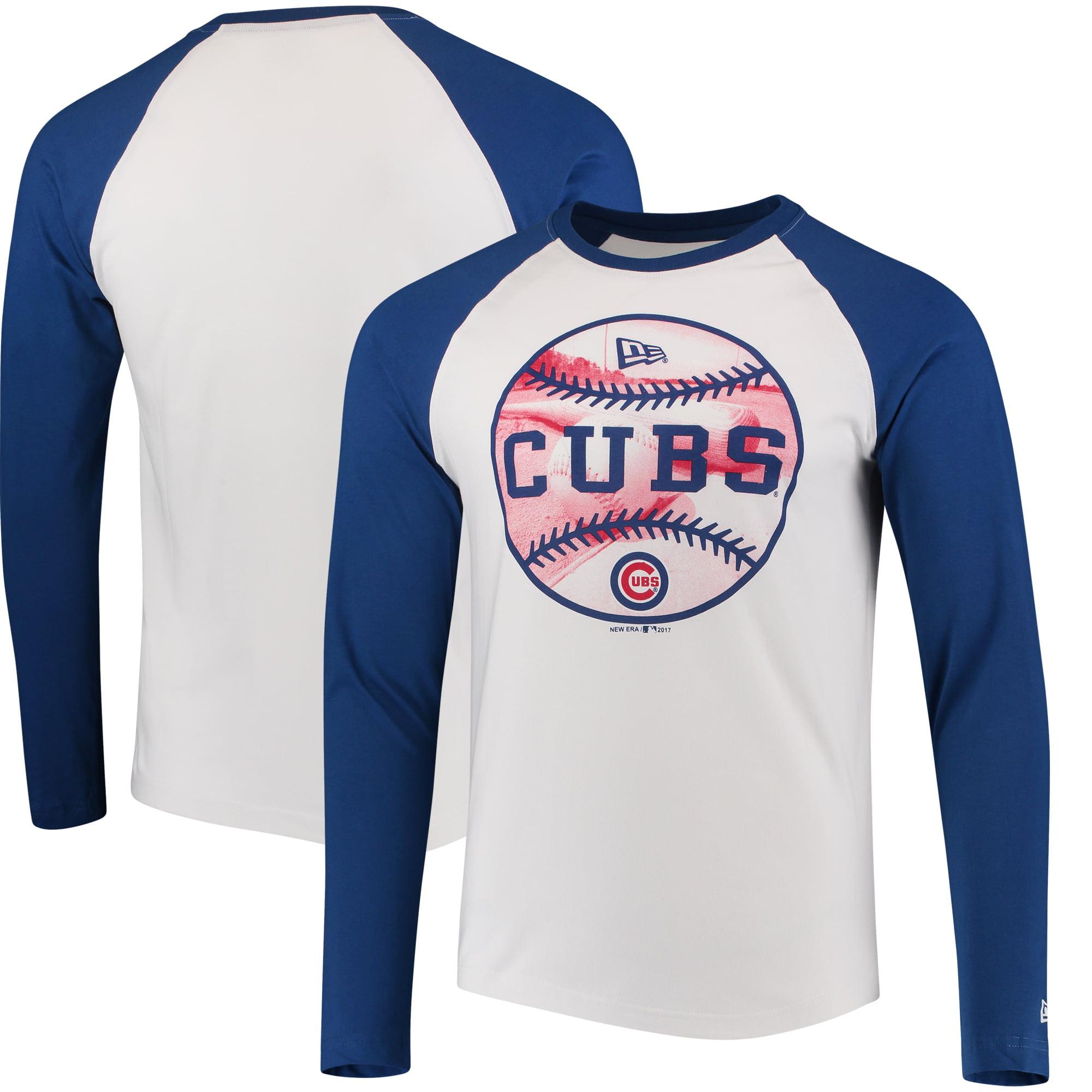 Chicago Cubs New Era Raglan Long Sleeve T-Shirt - White/Royal