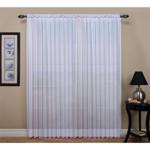 Ricardo Tergaline Extra Wide Tailored Rod Pocket Curtain Panel with Weighted Corded Bottom Hem