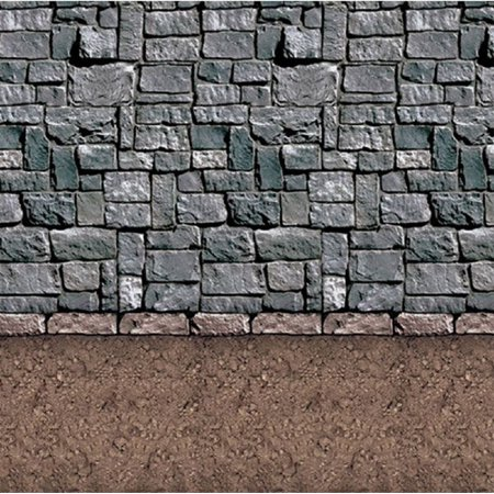 Pack of 6 Insta-Theme Dirt Floor and Stone Wall Halloween Backdrop Party Decorations 4' x 30' - 100 Floors Halloween Level 30