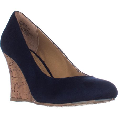 Womens Rialto Celina Wedge Heels - - Patent And Canvas Wedges