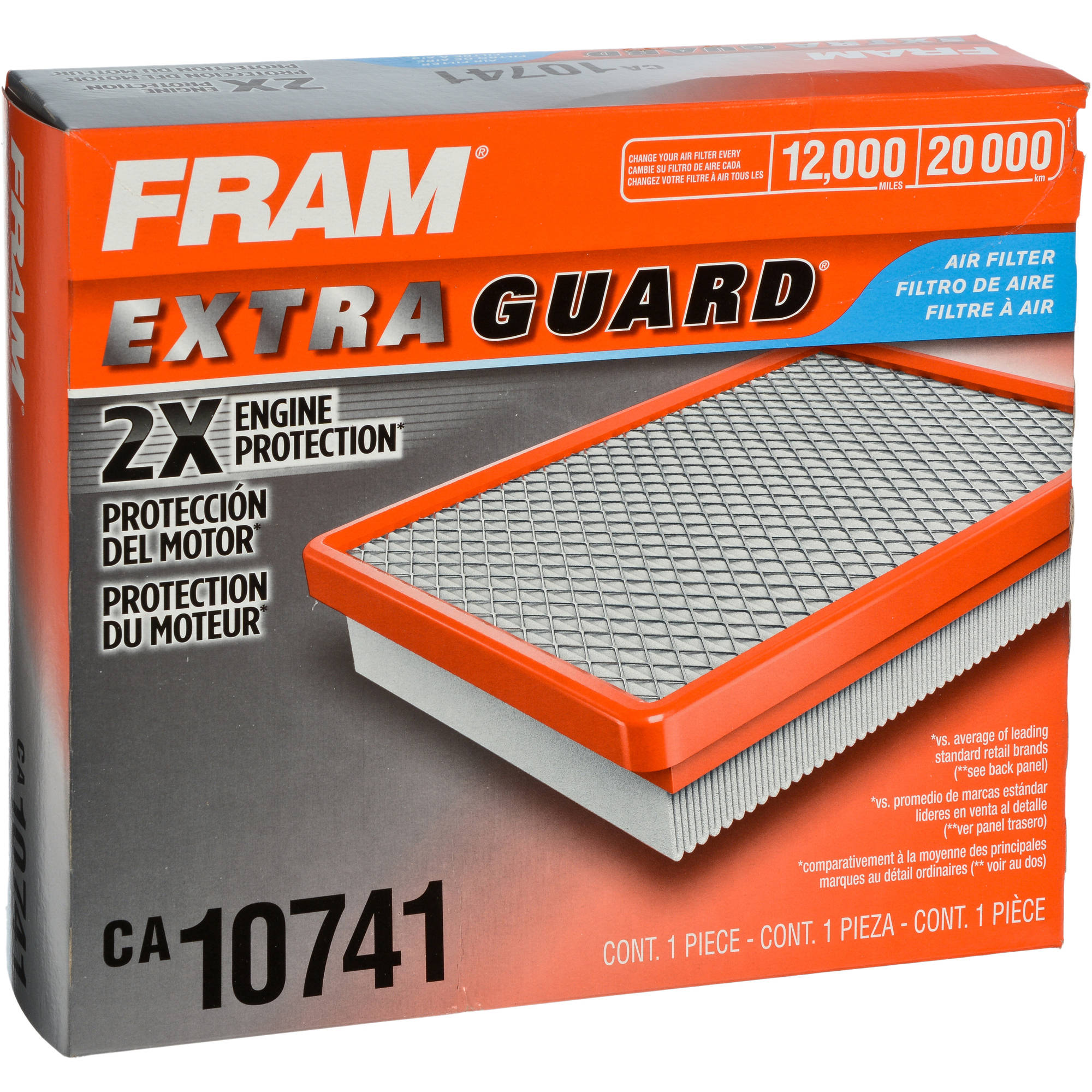 FRAM Extra Guard Air Filter, CA10741