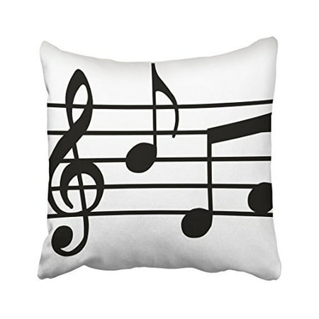 WinHome Decorative Music Notes Print Custom Zippered Pillow Cushion Case Throw Pillow Covers ...